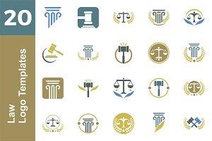 20 Logo Law Template Bundle