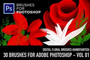 Flowers brushes - Vol 01