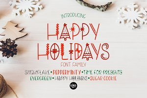 HAPPY HOLIDAYS Font Family