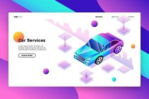 Car Service - Banner & Landing Page