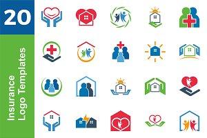 20 Logo Insurance Template Bundle