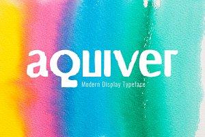 Aquiver Typeface