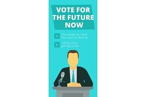 Vote for the future now. Pre