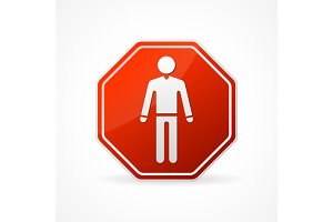 Vector Sign no man and no woman set