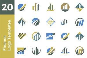 20 Logo Finance Template Bundle