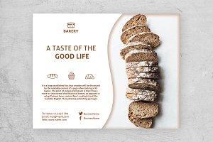 Horizontal Bakery Flyer