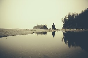 Ruby Beach with Water Reflection