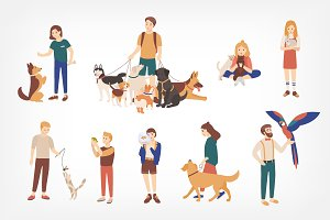 People with pets set