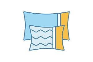 Pillows color icon