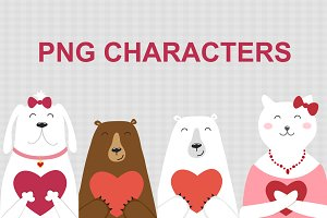 Valentines Day PNG Characters
