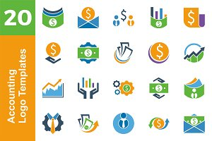 20 Logo Accounting Template Bundle