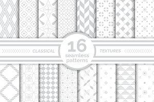 Classical seamless patterns. Big set