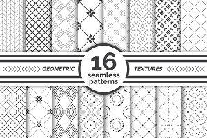 Geometric seamless patterns. Big set