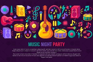 Musical Party Banner
