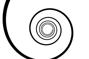 Black and white spiral line. Optical