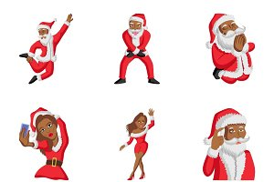 Cartoon Cute Santa Claus Set