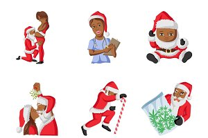 Illustration Of Santa Claus Set