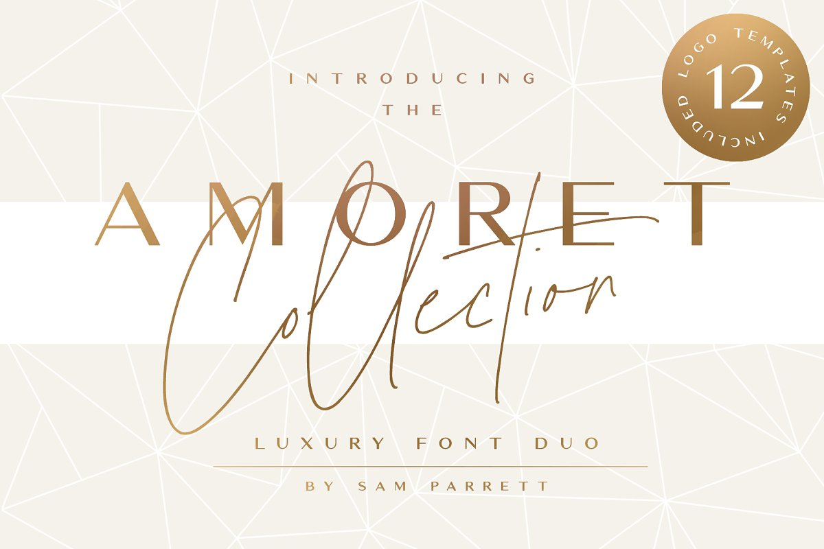 The Amoret Font Duo + Logos