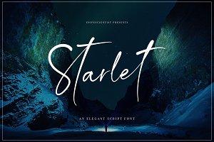 Starlet Script Font + 12 Logos