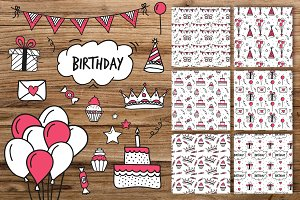 Birthday elements and patterns
