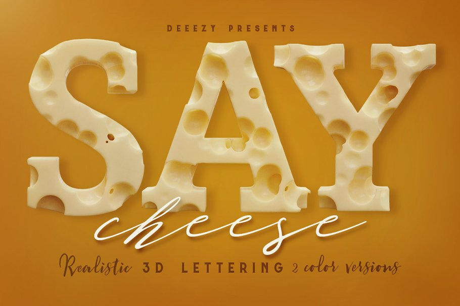 Cheese – 3D Lettering