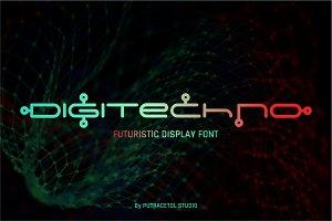 Digitechno - Futuristic Display Font