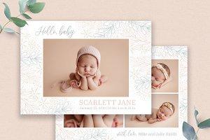 Birth Announcement Template PSD