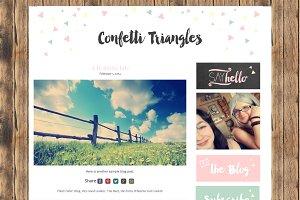 Confetti Triangles Header Button Set