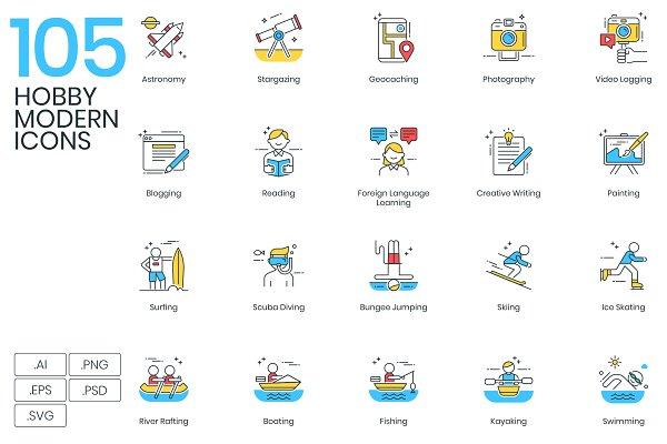 105 Hobby Modern Icons