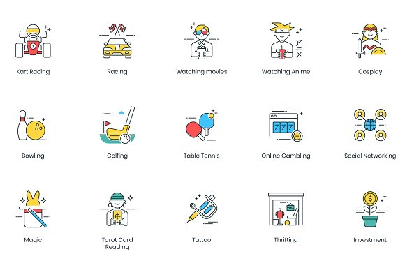 105 Hobby Modern Icons in Video Game Icons - product preview 4