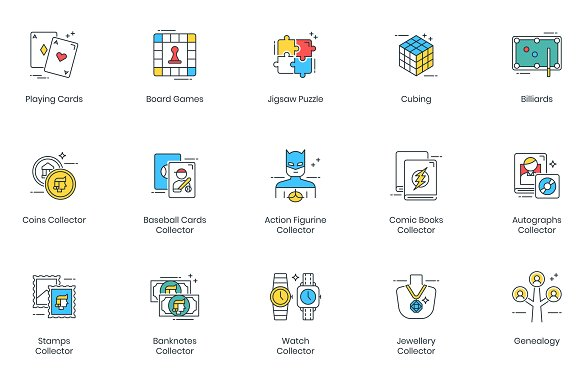 105 Hobby Modern Icons in Video Game Icons - product preview 7