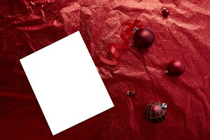 Christmas red baubles balls decorati