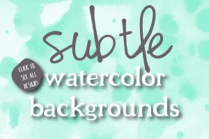 Subtle Watercolor Backgrounds