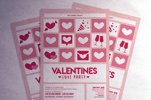 Valentines Love Party flyer