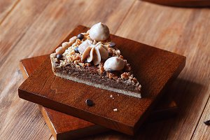 Chestnut Tart with Crumble Topping