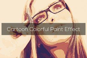 Cartoon Colorful Paint Effect