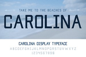 Carolina Display Typeface
