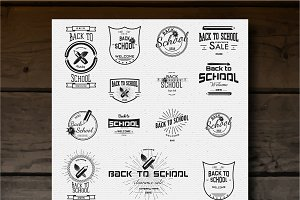 Back to school vector set badges