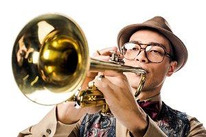 Mixed race musician
