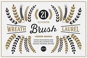 Wreath & Laurel Brush Vol. 1