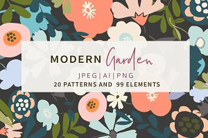 20 Modern Garden Patterns+Elements