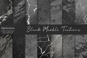Black Marble Textures, Backgrounds