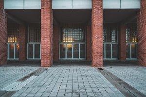 Facade of an university building