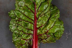 Organic Red Chard Leaf