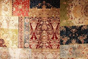 Beautiful textile rug decor backdrop