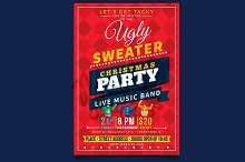 Ugly Christmas Party Flyer