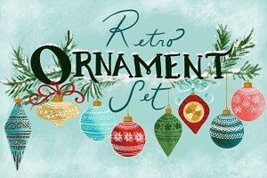 Retro Ornament Set