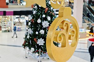New Year decorations in shopping mal