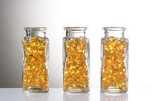 Capsules in Bottles