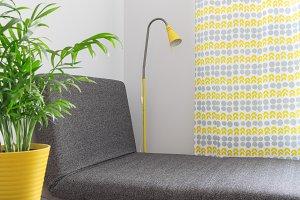 Chaise longue in a modern home